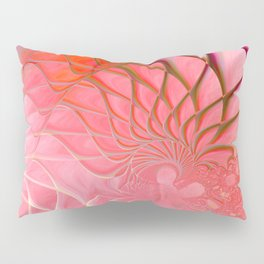 Web of the Universe (coral and magenta) Pillow Sham