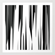 Black White and Gray Abstract 2 Art Print