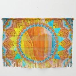 Moon and Sun Mandala Design Wall Hanging