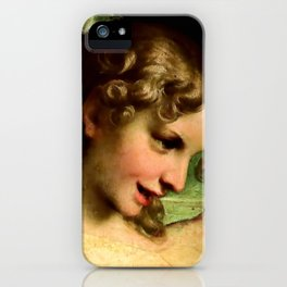 "Antonio Allegri da Correggio ""Madonna of St. Jerome""(detail) Angel iPhone Case"