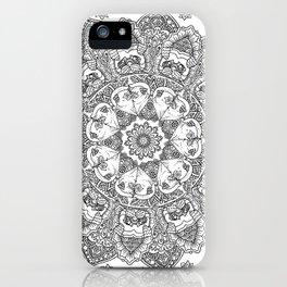 Mandala of Pug Love iPhone Case