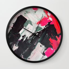 Hot Pink Franz Wall Clock