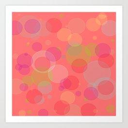 Bubblegum Bokeh Art Print