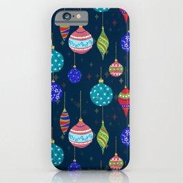 CHRISTMAS GLITTER - BLUE iPhone Case