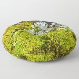 Tree Bark with Lichen#8 Floor Pillow