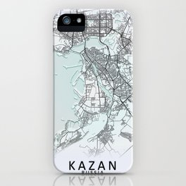 Kazan, Russia, White, City, Map iPhone Case