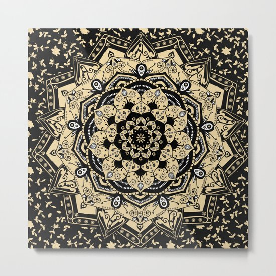 Indian Gold Mandala Metal Print