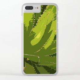 Sawtooth Leafed Aloe Vera Clear iPhone Case