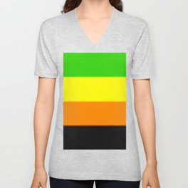 Aromantic Pride Flag v2 Unisex V-Neck
