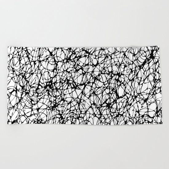 are you nervous? Beach Towel