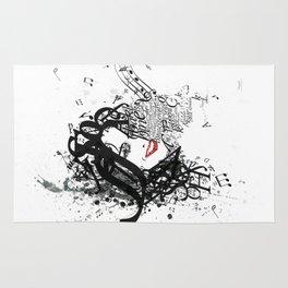 Musician Typographic Portrait Rug