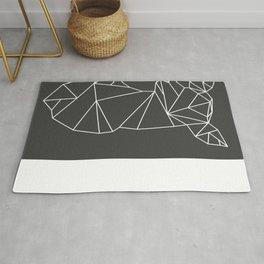 Geometric Doe (White on Grey) Rug