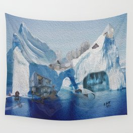 Iceberg city  Wall Tapestry