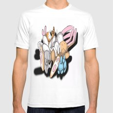 Rabbits Mens Fitted Tee White MEDIUM