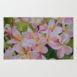 Plumeria Flowers Rug