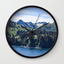 Three Sisters Mountains Photography Print Wall Clock