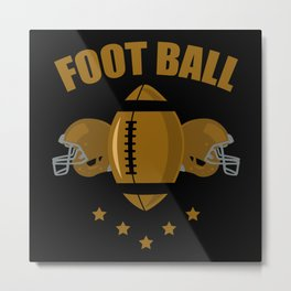 Football two helmet Metal Print