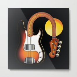 Sleeping Bass and Golden Moon Serie: The Precision Metal Print