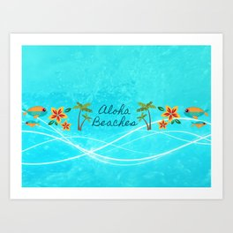 Aloha Beaches Art Print
