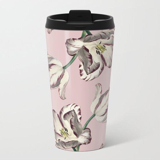 Spring Tulipa Metal Travel Mug