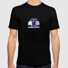 SW R2-D2 The Messenger Mens Fitted Tee MEDIUM Black