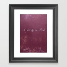 No. 2. A Study In Pink Framed Art Print