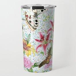 Magical Butterfly Flower Garden Travel Mug
