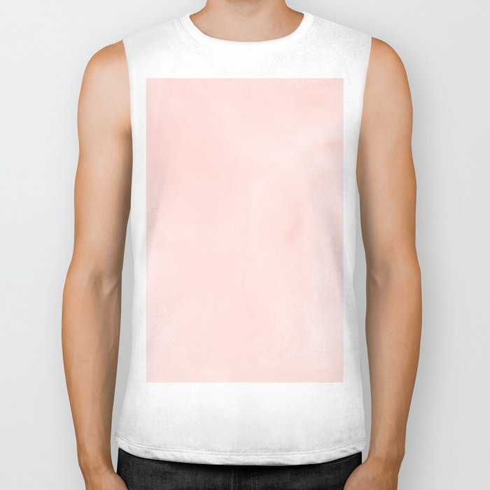 Seashell Pink Watercolor Biker Tank