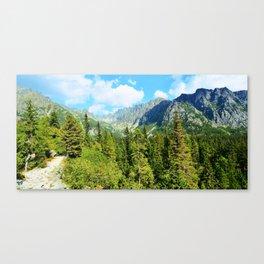 Landscape of the High Tatras Canvas Print