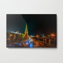 Moscow Kremlin At Night Metal Print