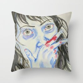 Brawler Throw Pillow