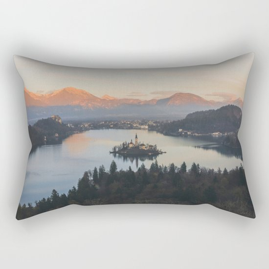 Lake Bled, Slovenia II Rectangular Pillow