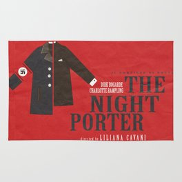 The Night Porter, movie poster, Liliana Cavani, Charlotte Rampling, Dirk Bogarde Rug