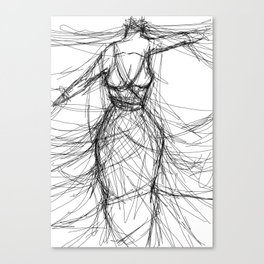 Strangled By Silk Thread Canvas Print