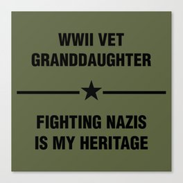 WWII Granddaughter Heritage Canvas Print