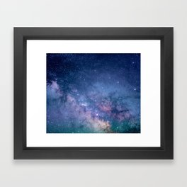 Milky Way Stars (Starry Night Sky) Framed Art Print