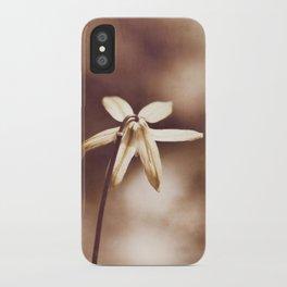 Copper Nature Photography, Modern Brown Minimalism Flower Art, Copper Botanical Minimal Print iPhone Case