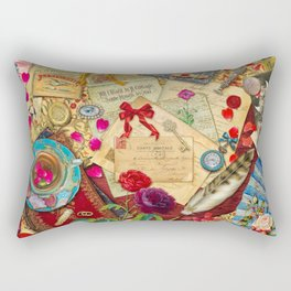 Vintage Love Letters Rectangular Pillow