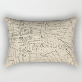 Vintage Map of Saratoga Springs NY (1895) Rectangular Pillow
