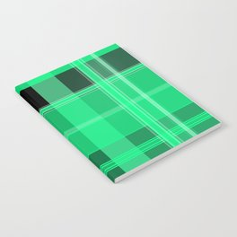 Shades of Green and Black Plaid Notebook
