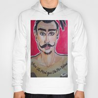 greg guillemin Hoodies featuring MOUSTACHED MODEL (GREG)  by Punkboy Marti