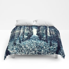 Magical Forest Teal Gray Elegance Comforters