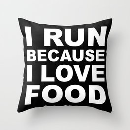 I LOVE FOOD Throw Pillow