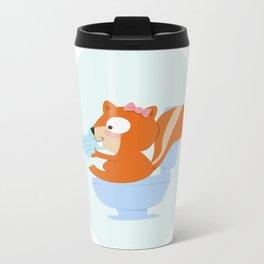 little chipmunk Metal Travel Mug