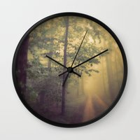neverland Wall Clocks featuring Neverland by Olivia Joy St.Claire - Modern Nature / T