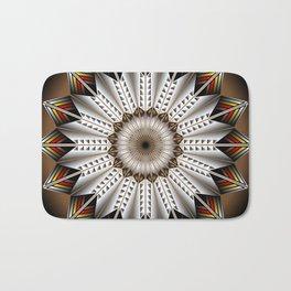 Feather Design Bath Mat