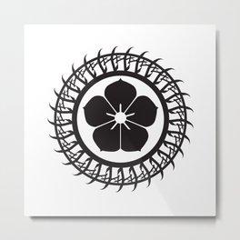Protective circle black Metal Print