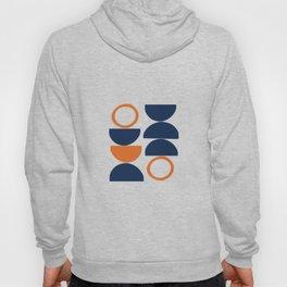 Abstract Shapes 19 in Burnt Orange and Navy Blue Hoody
