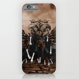 Awesome wild horses iPhone Case