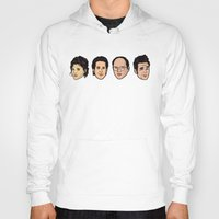 seinfeld Hoodies featuring Seinfeld by Michael Walchalk